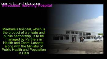 Martelly visits Mirebalais Teaching Hospital