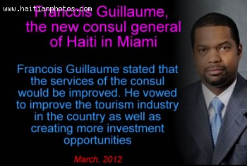 Francois Guillaume, the new consul general of Haiti in Miami