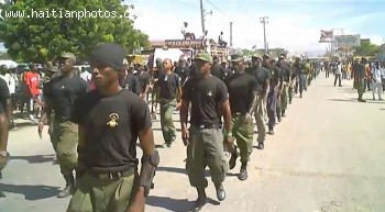 armed men running all over Haiti as demobilized soldiers