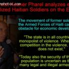 Economist Kesner Pharel reacted about Remobilized Haitian Soldiers