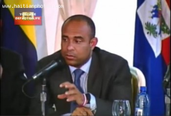Prime Minister Laurent Salvador Lamothe And Colombia