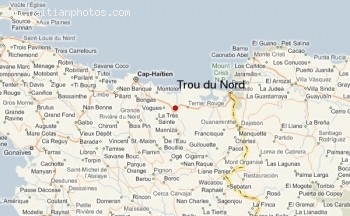 Map Of Trou Du Nord, Haiti