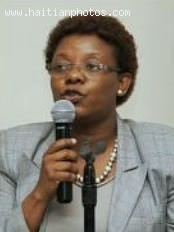 Gabrielle Hyacinthe, the mayor of Port-au-Prince