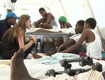 Angelina Jolie Visiting Haiti Earthquake Survivors