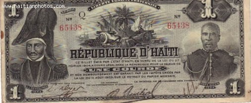 Haiti Currency, Gourde And Dollar