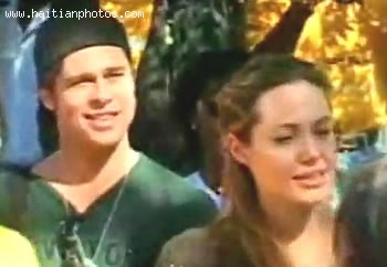 Angelina Jolie And Brad Pitt In Haiti