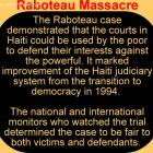Massacre At Raboteau, FRAPH Arrest, Beat And Throw Victims Like Garbage