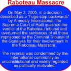 Raboteau Massacre And FRAPH Front For The Advancement And Progress Of Haiti