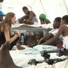 Angelina Jolie In A Camp For Earthquake Victims