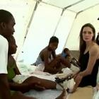 Angelina Jolie Visiting Children In Haiti Following Earthquake