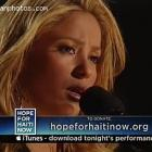 Shakira Singing Hope Haiti Telethon