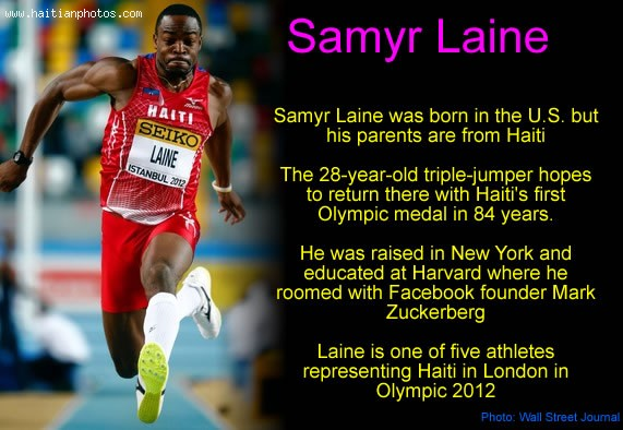 Samyr Laine For Haiti Olympic Games In London 2012