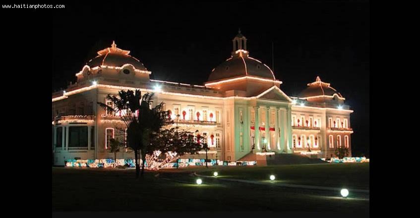 Haiti National Palace, View At Night