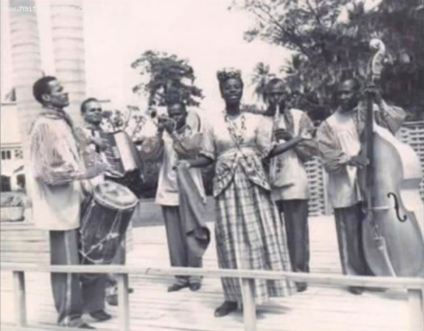 Lumane Casimir As Member Of Legba Choir