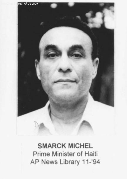 Prime Minister Smarck Michel Under Jean Bertrand Aristide