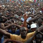 Protest By Haitian Population