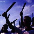 Haitian Protest With Machete