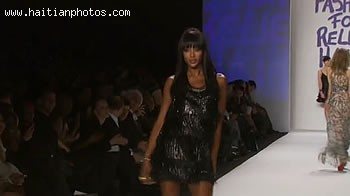 Neomi Campbell At Fashion For Relief Haiti