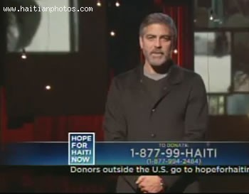 Hope For Haiti Now Telethon - George Clooney