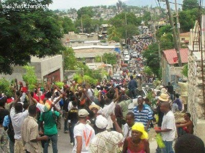 Protest in Port-au-Prince against Martelly