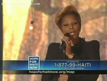 Hope For Haiti Now Telethon - Mary J Blige