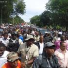 Michel Martelly Walk From Airport To National Palace