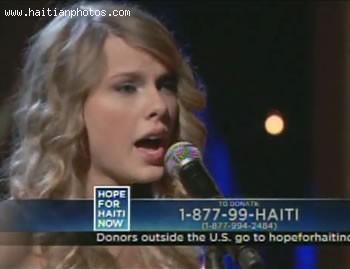 Hope For Haiti Now Telethon - Taylor Swift