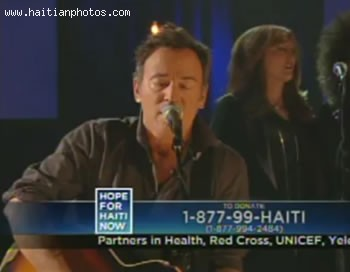 Hope For Haiti Now Telethon - Bruce Springsteen