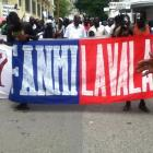 Manifestation Against Martelly In Cap-Haitian