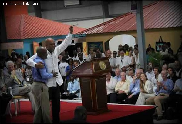 Caracol Industrial Park Inauguration With Rene Preval And Michel Martelly
