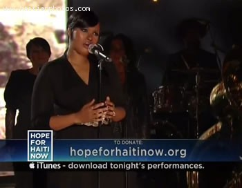 Hope For Haiti Now Telethon - Jennifer Hudson