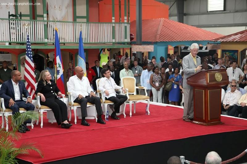 Caracol Industrial Park Inauguration Present Were Rene Preval, Michel Martelly, Hillary Clinton, Bill Clinton