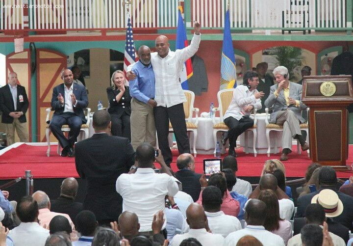 Caracol Industrial Park Inauguration - Rene Preval, Michel Martelly, Hillary Clinton, Bill Clinton
