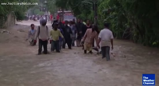 Hurricane Sandy In Haiti, Street Flooding