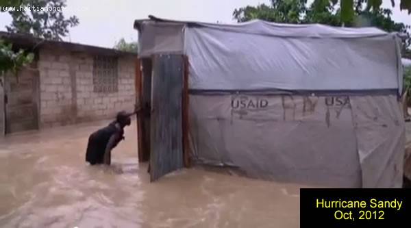 Hurricane Sandy In Haiti, Home Flooded