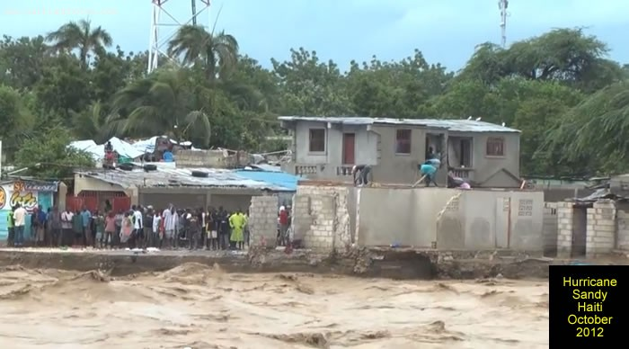 Hurricane Sandy On Haiti Flooded Homes