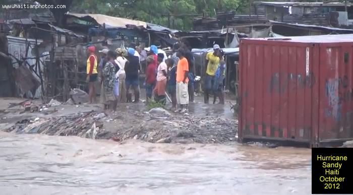 Hurricane Sandy On Haiti Homeless