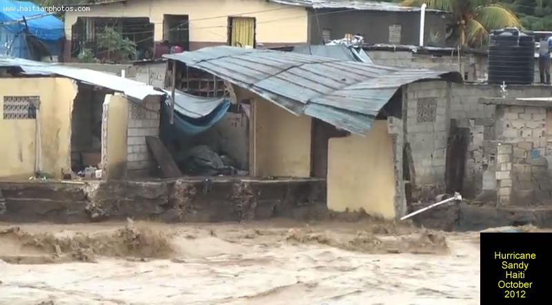 Hurricane Sandy On Haiti Destroyed Home