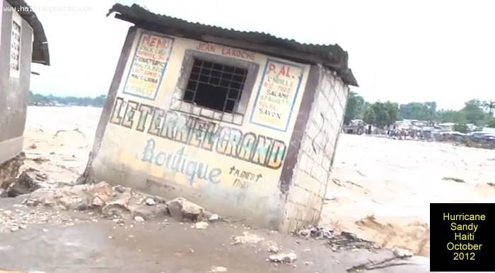Hurricane Sandy On Haiti House