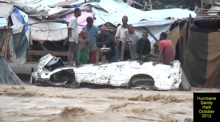 Hurricane Sandy On Haiti And Flooded Homes