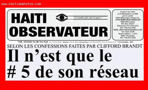 Haiti Observateur on Clifford Brandt
