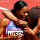 Haitian-American sprinter Marleine Wesh  also called Marlena Wesh