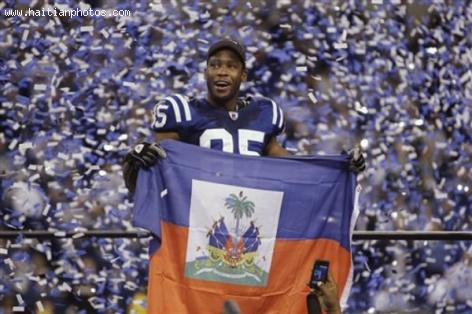 Pierre Garcon and his Haitian Flag