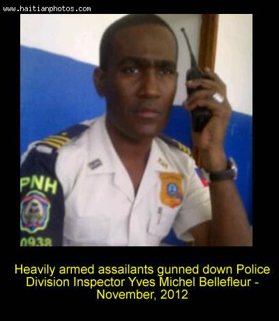 Police Division Inspector Yves Michel Bellefleur assassinated