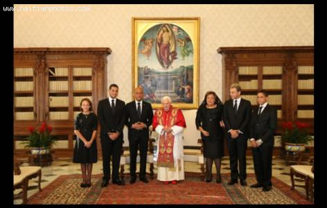 Michel Martelly and Pope Benedict XVI in Rome