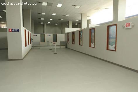 Inside of Toussaint Louverture airport