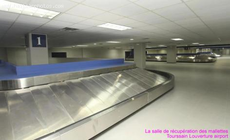 Renovated Toussaint Louverture airport baggage claim