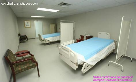 Medical section of Toussaint Louverture airport