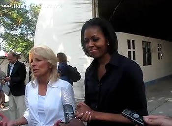 Michelle Obama And Jill Biden Visiting Haiti Earthquake Victims