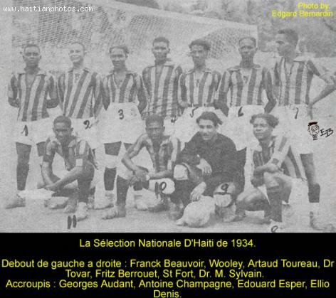 Haitian Football, 1934 Haiti National Soccer Team